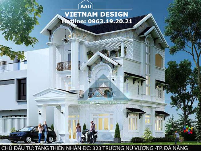 Thiết Kế Biệt Thự Anh Thiên Nhân Tăng Tại 323 Trưng Nữ Vương-Tp Đà Nẵng